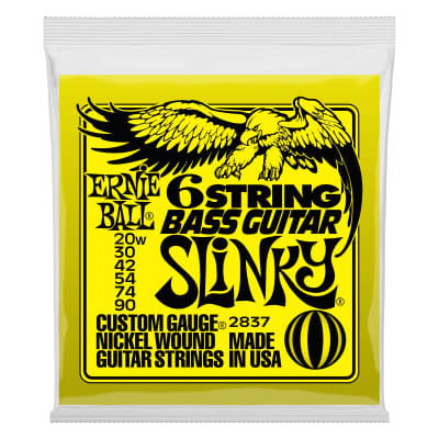 Ernie Ball Slinky 6-String w/ small ball end 29 5/8 scale Bass Guitar Strings - 20-90 Gauge