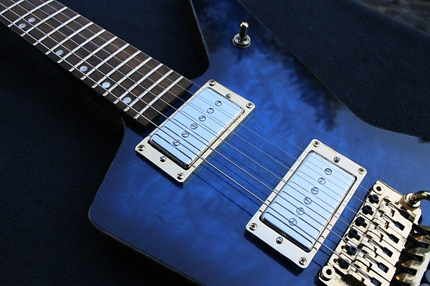 855 Guitars BluRevolution / Explorer Styled Body Blue Quilted | Reverb : blue quilted maple - Adamdwight.com