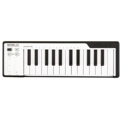 Arturia MicroLab 25-Note Mini-Key Portable USB-MIDI Controller Keyboard, Black