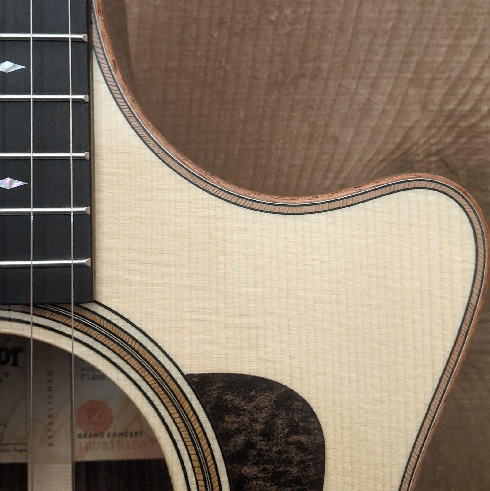 Taylor 712ce 12-Fret Grand Concert Acoustic Electric Guitar Natural