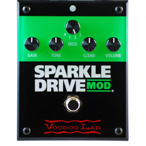Voodoo Lab Sparkle Drive MOD Overdrive Guitar Effects Pedal for sale