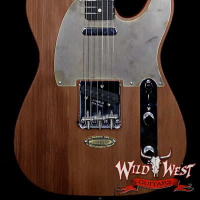 Fender Custom Shop Yuriy Shishkov Masterbuilt Airfield Telecaster Closet Classic Reclaimed Redwood from Hangar One Zeppelin Storage for sale