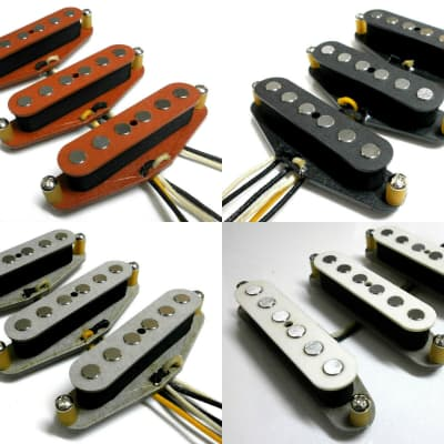 Q pickups Stratocaster Quarter Pound Pickups SET Hand Wound HOT & FAT Strat Guitar Tone Custom Shop