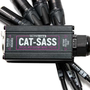 Elite Core Audio CAT-SASS-3PM Ethernet Breakout with 4 XLRM 3-Pin Special Application Snake System