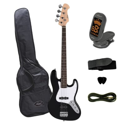 Artist JB2 Black Electric Bass Guitar Plus Accessories for sale