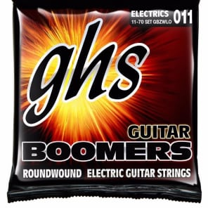GHS GB-ZWLO Heavyweight Boomers Custom Lo-Tune Electric Guitar Strings - Heavy (11-70)