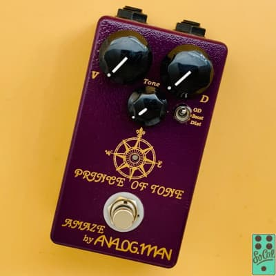 Analogman Prince of Tone Overdrive Pedal w/Original Box! for sale