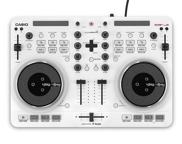 Casio XWJ1 XW-J1 NEW All-in-One VJ/DJ Controller Vestax iOS USB DJay  w/Spotify And Free Headphones