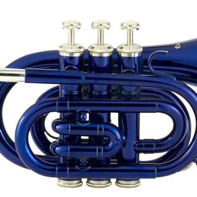Ravel Student Pocket Trumpet - Blue