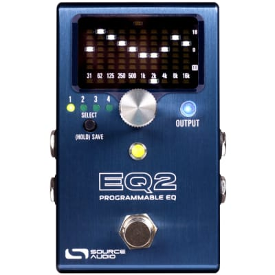 Source Audio EQ2 Programmable Equalizer Pedal for Electric Guitars, Basses, and More SA270