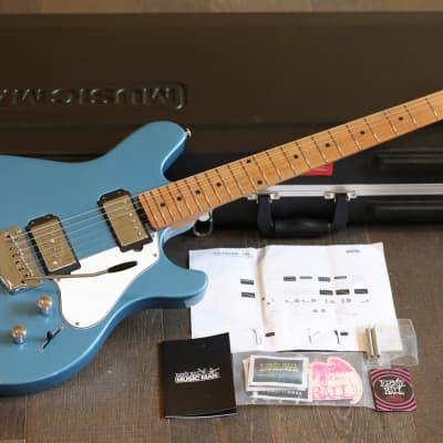 Unplayed! Ernie Ball Music Man James Valentine Sig Tremolo Toluca Lake Blue w/ Roasted Neck + OHSC for sale