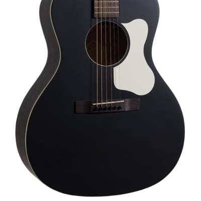 The Loar LO-14-TBK Flat Top Acoustic Guitar, Solid Top In Black for sale