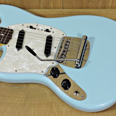 Fender Fender Limited Edition MIJ Traditional '60s Mustang Left-Handed Sonic Blue for sale