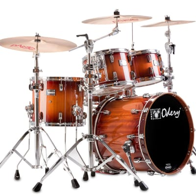 Odery Eyedentity Drum Set Shell Pack--Nyatoh, Red River Finish: 10, 12, 16, 22