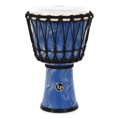 """LP 7"""" Rope Tuned Circle Djembe Blue Marble"""