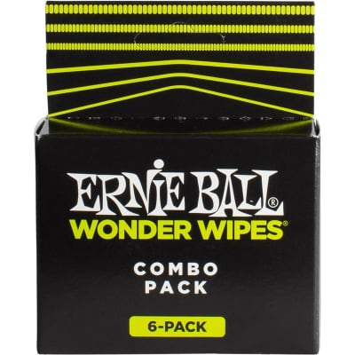 Ernie Ball 4279 Wonder Wipes Combo, 6 Pack for sale
