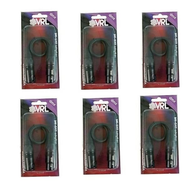 VRL VRLDMX3PF5PM DMX Adapter 3 Pin Female To 5 Pin Male