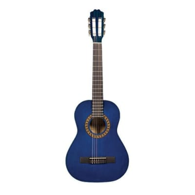 Beaver Creek BCTC601TB - 3/4 Size Acoustic Classical Guitar - Transparent Blue for sale