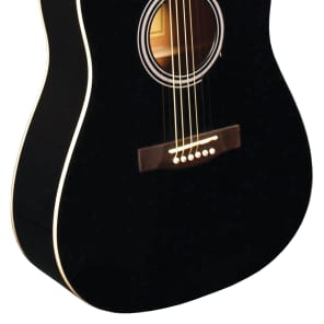 Indiana Acoustic Guitar Steel String Dreadnought Spruce Top  Black for sale
