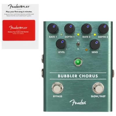 Fender Bubbler Chorus Effects Pedal w/ Fender Play Prepaid Card