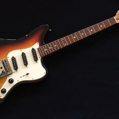 VINTAGE 1967 DOMINO SPARTAN 3 TONE SUNBURST MADE IN JAPAN MATSUMOKU  UPGRADED FENDER N3 SINGLE COIL for sale