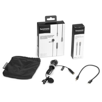 Saramonic LAVMICROU1A Omnidirectional Lav Mic with 2m Cable for iOS Devices