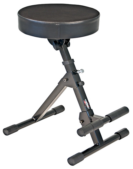 Tour Tough Usa Guitar Throne Adjule Foot Rest Padded Stool Black New