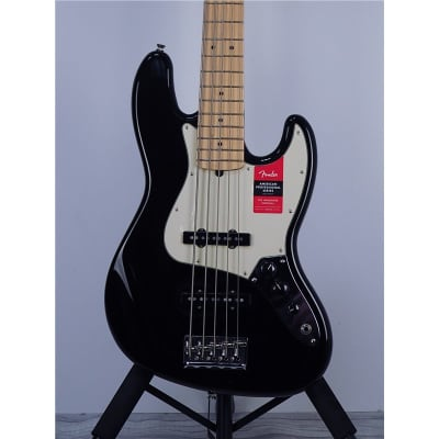 Fender American Professional Jazz Bass V 5-String Black, Maple, B-Stock for sale
