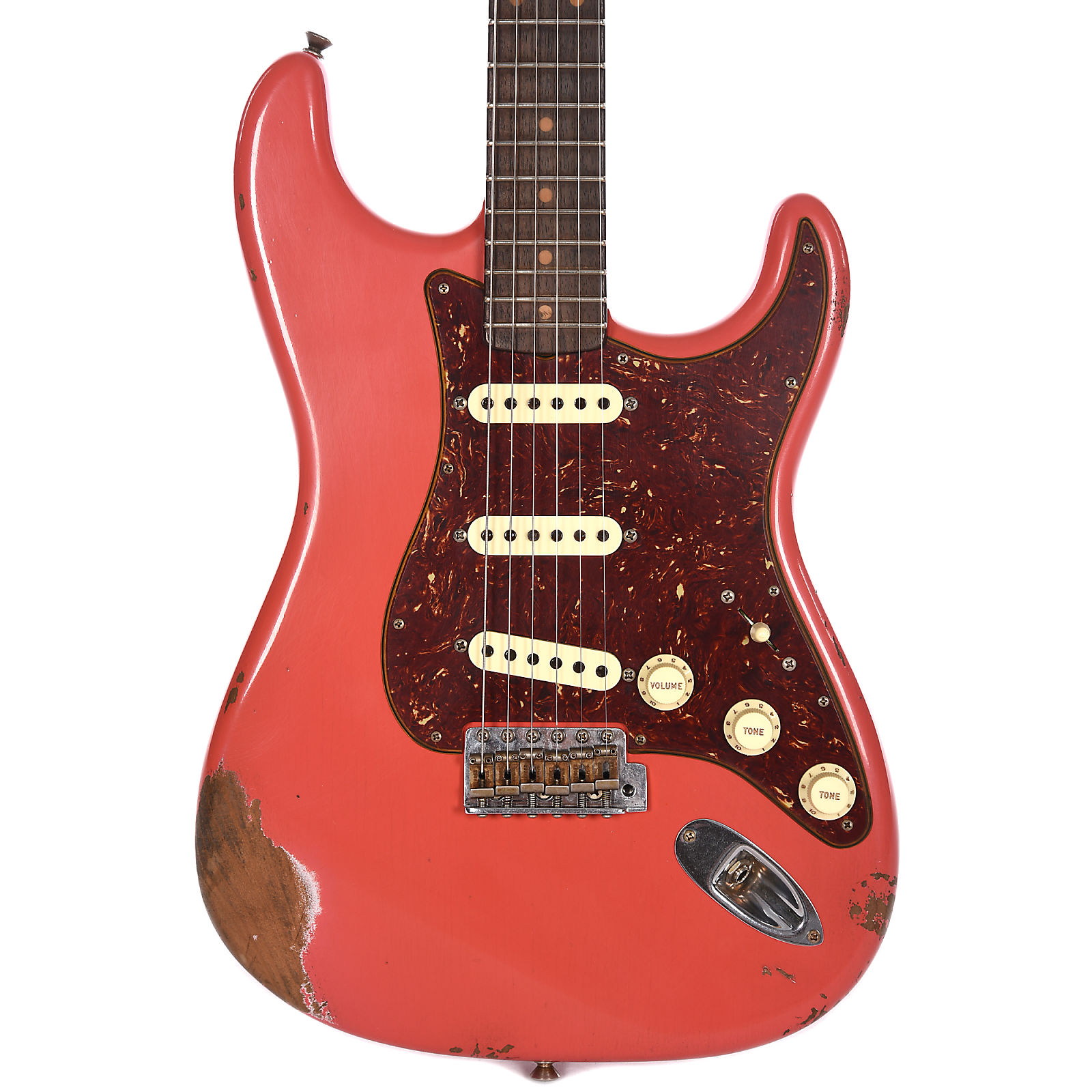 Fender Custom Shop 2018 Limited 1960 Roasted Stratocaster Heavy Relic Faded Aged Fiesta Red W Ancho Poblanos