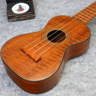 Wurlitzer vintage soprano ukulele curly cuban mahogany  1920 for sale