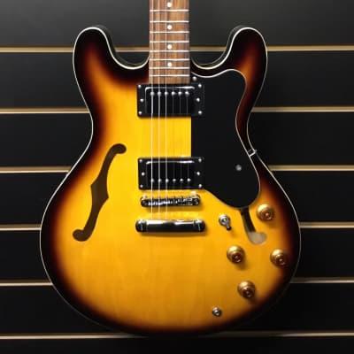 Harley Benton Semi Hollow Guitar Sunburst for sale