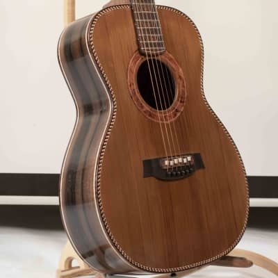 Artful Portland Guitar Brazilian Rosewood with Cedar Top Handmade Luthier OMAcoustic Guitar for sale