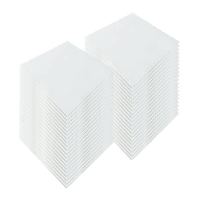 Arrowzoom 50 pieces WHITE 23 x 23 x 0.6 inches Fiberglass Acoustic Panel Drop Ceiling Tiles