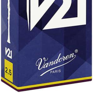 Vandoren CR8025 V21 Series Bb Clarinet Reeds - Strength 2.5 (Box of 10)