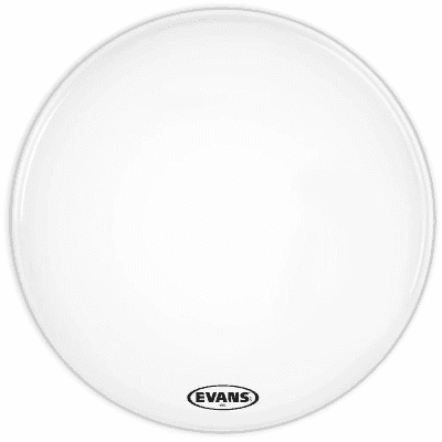 Evans BD30MX2W MX2 White Marching Bass Drum Head - 30""