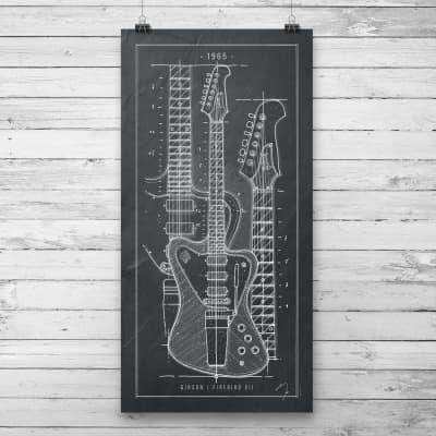 Poster Black / Gibson Firebird VII / 1965