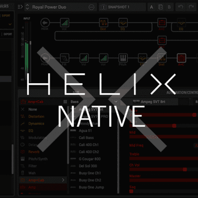 New Line 6 Helix Native Guitar Amp and Effects Plugin Software for Mac/PC - Download/Activation Card