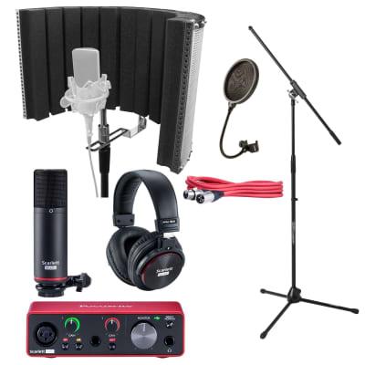 Focusrite Scarlett 2i2 Studio Recording Interface Bundle w Headphone & Mic Stand
