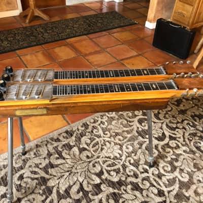 Magnatone VINTAGE Lyric Doubleneck Dual neck steel guitar 1959-1960 Walnut for sale