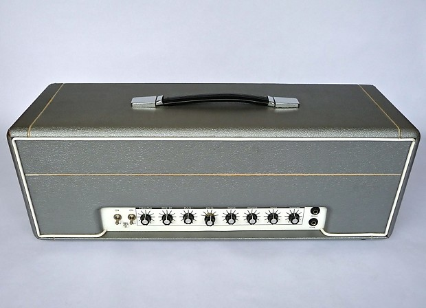 Weber 6O100 100W Tube Amp Head 72' Orange OR120 Clone Hand Wired Pro-Built  Silver Tolex