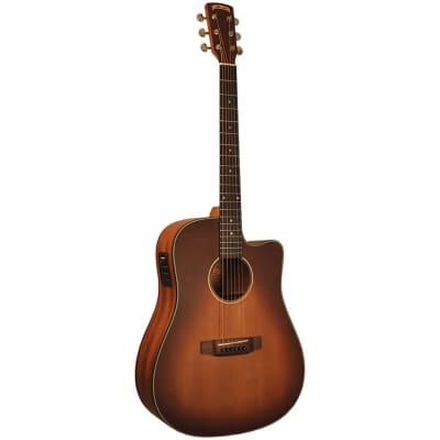 Morgan Monroe MDC-1CEB Acoustic-Electric Guitar w/Gig Bag - Tobacco Sunburst for sale