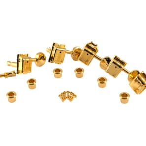 Kluson Supreme Guitar Tuners Gold finish, 18:1 gear ratio 6-in-line for Fender Strat/Tele KTS9105MG
