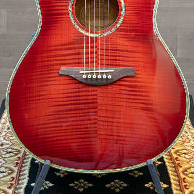 Miller SMGC-80E Acoustic Electric Cutaway Flame Maple Top Red Sunburst w/Case for sale