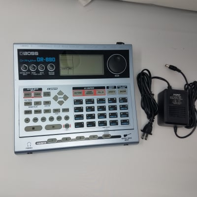 Boss DR-880 Dr. Rhythm with a power cable
