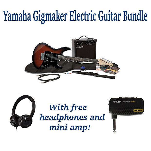 Yamaha Gigmaker Eg Electric Guitar Old Violin Sunburst Pack Reverb