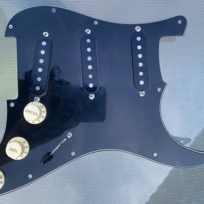 Stew Mac Golden Age Pre-Wired Pickguard 2015 Black for sale