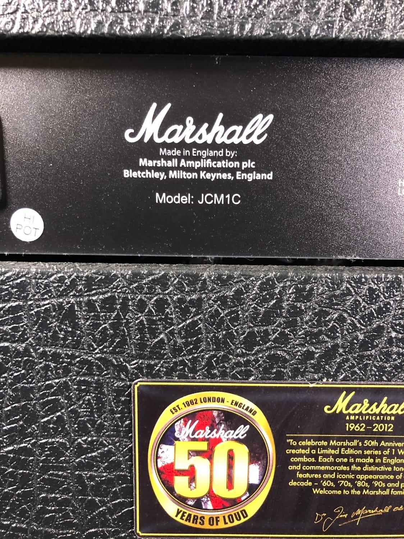 765fef9d24e Marshall JCM1-C 50th Anniversary 1980s 1W Guitar Combo 2012 Black