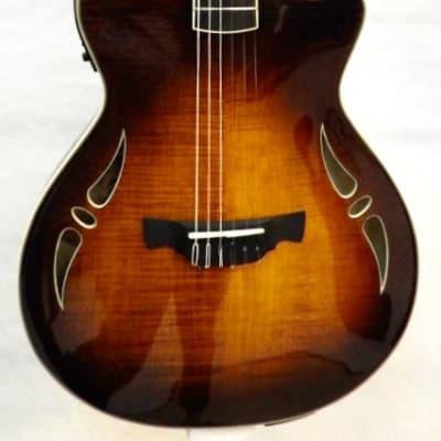 Magnifique Guitare Electrique CRAFTER SAC-TMVS ERABLE FLAMME CORDES NYLON + Etui Crafter for sale