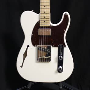 G&L USA ASAT Classic Bluesboy Semi-Hollow Alpine White w/case 7.2 lbs for sale