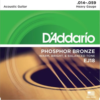 1 Set of NEW D'Addario EJ18 Guitar Strings Heavy
